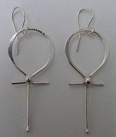 Ankh Jewelry Hand Forged Ankh Earrings Sterling by ULoveJewelry, $35.00