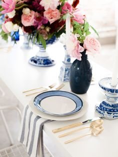Lovely mixed blues with white--classic but fun