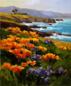 """""""Poppies a'Plenty"""" original fine art by Erin Dertner"""