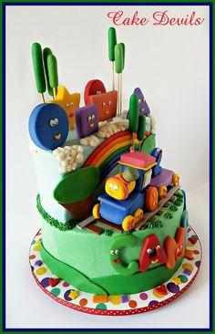 Bob the train birthday cake