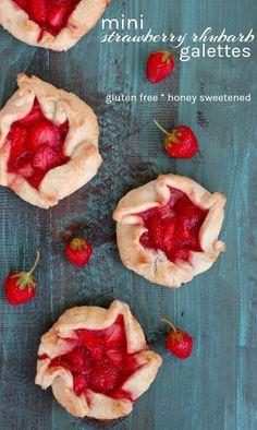 Strawberry Rhubarb Mini Galettes :: Simple Prep Gluten Free