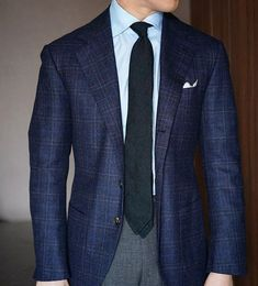 Mens Fashion Smart – The World of Mens Fashion Men's Fashion, Mens Fashion Suits, Mens Suits, Checked Suit, Checked Blazer, Terno Slim, Smart Casual Menswear, Business Outfits, Gentleman Style
