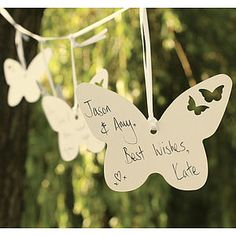 Wedding Hanging Wishes Butterfly Garland