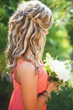 Wedding Hairstyles: Waterfall Plaits