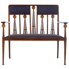 Art Nouveau Marquetry Inlaid Settee By Liberty and Co. c.1910