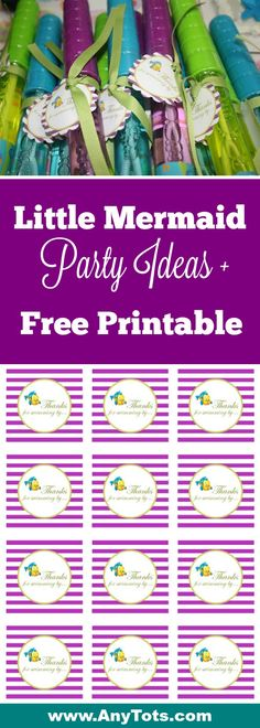Free Party Printable for Under the Sea: Little Mermaid Party