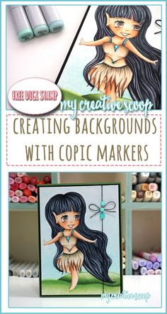 Creating Backgrounds using Copic Markers - Pinterest