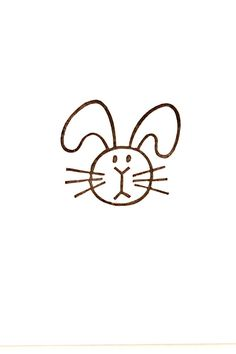 Plump Bunny rubber stamp - Rabbit Non-mounted hand carved rubber stamp - Animal head stamp
