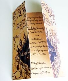 Harry Potter Party Invitation Marauder's Map by WhitetailDesigns
