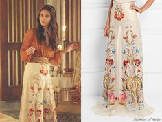 "In the episode 2x11 (""Getaway"") Lady Kenna wears this Temperley London Toledo Floral Embroidered Silk-Organza Skirt ($1,825.00 $730.00). Worn with a Free People blouse."
