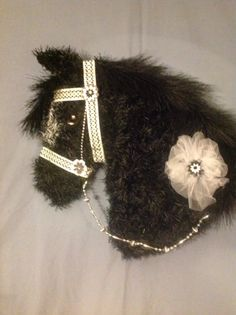This black draft horse head wreath is available for purchase