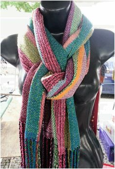 Handweaving scarf by Pancho Pinsag.  Wool and cotton.