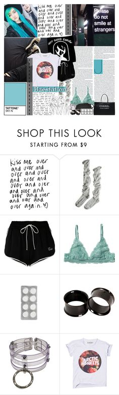 """""""[✈] Booty on your weak mind in 2D never looked fine"""" by meep1213 ❤ liked on Polyvore featuring KRISVANASSCHE, Chanel, Calypso St. Barth, Off-White, Monki and feelsbadman"""