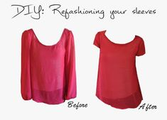 Super easy tutorial on how to refashion your sleeves! I love this.