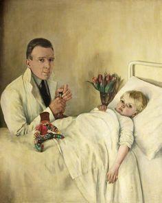 La petite convalescente by Margaret Evangeline Wilson Medical Art, Medical School, Medical Pictures, Call Art, Sick Kids, Art Uk, 2d Art, Art Forms, Painting & Drawing