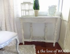 2 console tables for the bed side