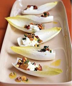 Endive With Ricotta, Almonds, and Raisins