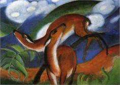 The Red Deer- Franz Marc canvasreplicas.com