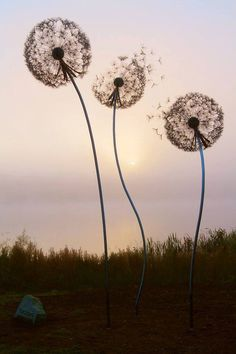Dandelion sculpture