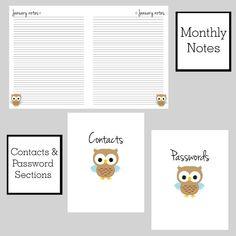 FREE 2017 Planner | the Krafty Owl