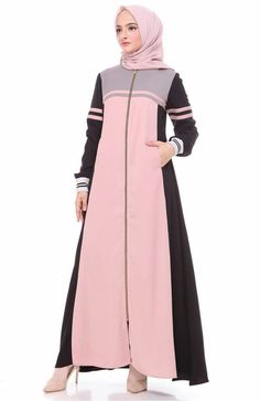 Modern Hijab Fashion, Muslim Women Fashion, Abaya Fashion, Modest Fashion, Fashion Dresses, Modest Dresses, Modest Outfits, Casual Dresses, Muslim Long Dress