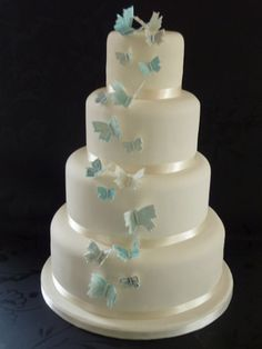 blue butterflys MY IDEAL WEEDING CAKE !!!!!
