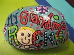 cute idea for kid craft project - it can be mom, dad, grandma, grandpa, uncle, aunt, cousin - Rocks!