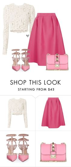 """Bez naslova #3945"" by lillyrosalie ❤ liked on Polyvore featuring A.L.C., Luxe and Valentino"