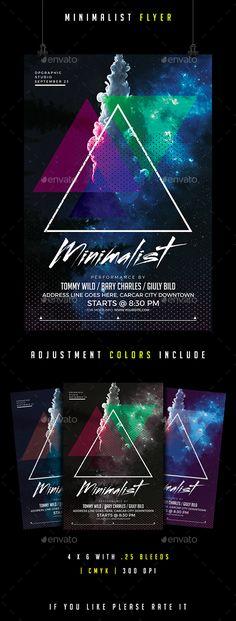 #Minimalist #Flyer  - #Clubs & Parties Events Download here: https://graphicriver.net/item/minimalist-flyer-/17305005?ref=alena994