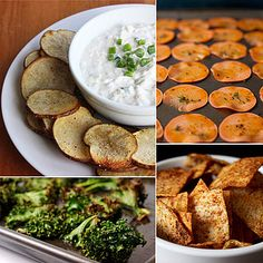 Healthy Chip Recipes - chips are a big weakness of mine (mainly the saltiness!) and these are all amazing subs!  expecially kale - my fav :)