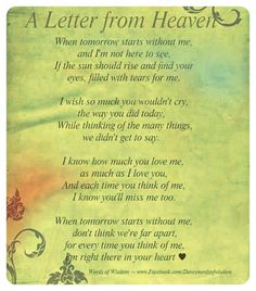 I miss you mom poems 2016 mom in heaven poems from daughter son on mothers day.Mommy heaven poems for kids who miss their mommy badly sayings quotes wishes. Missing Someone In Heaven, Missing Someone Who Passed Away, Missing My Brother, Missing Family, Letter From Heaven, Bien Dit, Miss You Mom, Tu Me Manques, Holy Mary