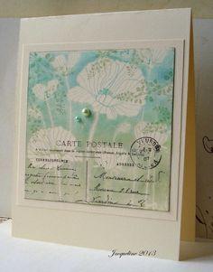 gorgeous card!! Poppy stamp, via Flickr.