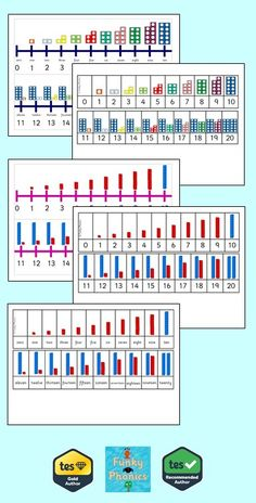 This pack includes a range of numberline and tracks using Numicon shapes and Base Numicon versions: Number line with words and digits Number line with . Numicon Activities, Number Line Activities, Math Games, Numbers Kindergarten, Math Numbers, Early Years Maths, Math Graphic Organizers, Number Lines, Order Of Operations