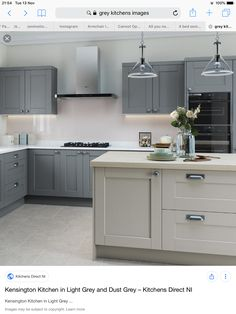 ve got some gorg grayish kitchen ideas to help larn you lot on the correct rail xxx Best Grey Kitchen Ideas For Cool, Chic Space Grey Shaker Kitchen, Grey Kitchen Floor, Shaker Style Kitchens, Grey Kitchen Cabinets, Grey Kitchens, Kitchen Flooring, New Kitchen, Kitchen Decor, Kitchen Ideas