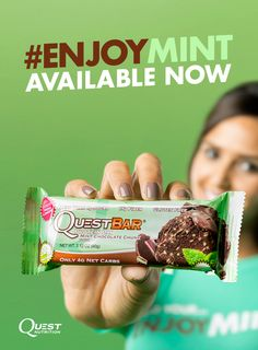 seriously one of me new fav quest bars! Quest Protein Bars, Quest Bars, Healthy Habits, Healthy Recipes, Healthy Meals, Healthy Food, Mint Bar, Quest Nutrition, Thin Mint Cookies