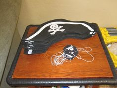 Bedroom Pirate Decorations Pirate Hat And Eye Patch On A Small Plywood Table Pirate Decorations for Boys Bedroom