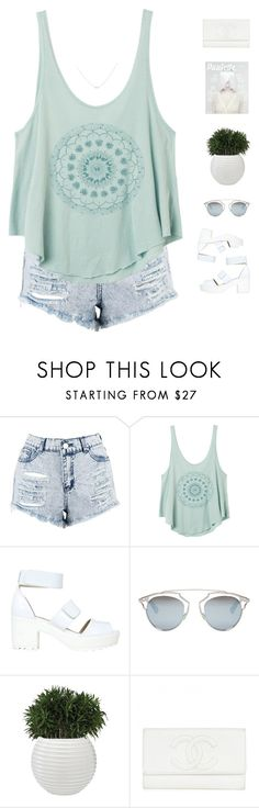 """""""Smile Everyday"""" by genesis129 on Polyvore featuring Boohoo, RVCA, Forever 21, Christian Dior, Accessorize and vintage"""