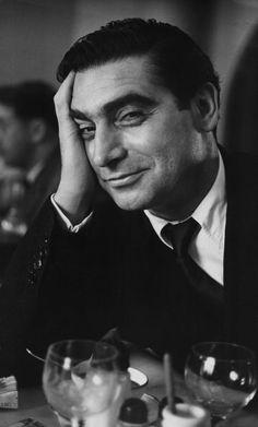 Robert Capa photographed by Ruth Orkin in Paris, 1951.