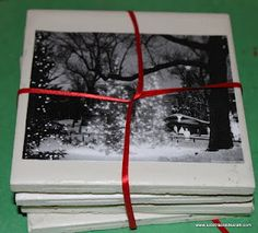 How to Make Coasters for Christmas Presents - Sidetracked Sarah