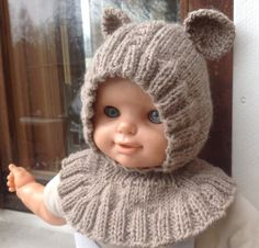 Baby Born, Knitting For Kids, Drops Design, Knitted Hats, Doll Clothes, Winter Hats, Sewing, Womens Fashion, Crafts