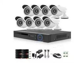 Product Overview: A complete CCTV system with high definition night vision cameras. Retail Box, Night Vision, 1 Year, Buttons, Kit