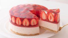 いちごのレアチーズケーキの作り方 No-Bake Strawberry Cheesecake*Eggless Without oven|. Cheesecake Bites, Strawberry Cheesecake, Strawberry Recipes, Food Cakes, Cake Recipes, Dessert Recipes, Cheesy Mashed Potatoes, Pork Rib Recipes, Jelly Cake