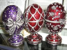 Here have three elegant Faberge Eggs!  Oh wow what a lovely gift...d