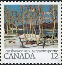 Canada Stamp - April in Algonquin Park  (1977)