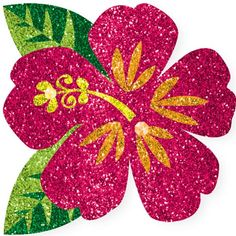 Glitter Hibiscus Flower Body Jewelry features a bright pink, yellow, orange, and green glittery hibiscus flower with tiny gold rhinestone accents. This self-adhesive body jewelry completes your luau party outfit. Luau Party Favors, Luau Theme Party, Moana Themed Party, Moana Birthday Party, Party Themes, Birthday Parties, Theme Parties, Party Ideas, Party Party