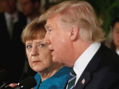 German Chancellor Angela Merkel read a Playboy interview with Donald Trump in preparation for her first official meeting with the President, German officials have said.
