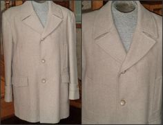 Men's Wool Over Coat Topcoat 48 XL TIP TOP by VoraciouslyVintage