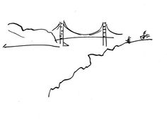 patrick morgan golden gate-  I want this around my ankle, maybe with a bird or two flying above it..