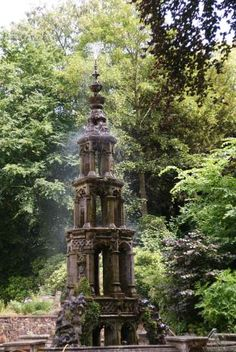 The Fountain at the Plantation Garden in Norwich. Set in 3 acres in the heart of Norwich on Earlham Road, this secret garden is open to Trust members and visitors every day from 9 a.m. to 6 p.m.  Find a Gothic style fountain, Medieval style walls and superb creative planting.  A beautiful place for quiet meditation or a fun picnic. | The Plantation Garden