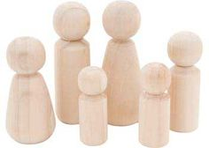 Wooden Family – Set of 6 - Wood Craft